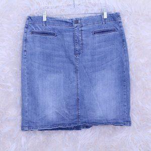J.Jill Smooth Fit Denim Skirt